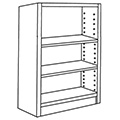 Nautilus™ Wood Library Shelving - 48H x 12D Single-Face Starter