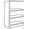 Nautilus™ Wood Library Shelving - 48H x 12D Single-Face Adder