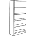 Nautilus™ Wood Library Shelving - 60H x 12D Single-Face Adder