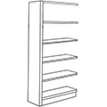 Nautilus™ Wood Library Shelving - 72H x 12D Single-Face Adder