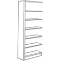 Nautilus™ Wood Library Shelving - 82H x 12D Single-Face Adder