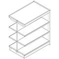 Nautilus™ Wood Library Shelving - 48H x 24D Double-Face Adder