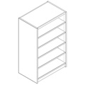 Nautilus™ Wood Library Shelving - 60H x 24D Double-Face Starter