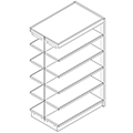 Nautilus™ Wood Library Shelving - 60H x 24D Double-Face Adder