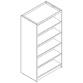 Nautilus™ Wood Library Shelving - 72H x 24D Double-Face Starter