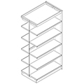 Nautilus™ Wood Library Shelving - 72H x 24D Double-Face Adder