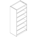 Nautilus™ Wood Library Shelving - 82H x 24D Double-Face Starter