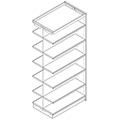 Nautilus™ Wood Library Shelving - 82H x 24D Double-Face Adder