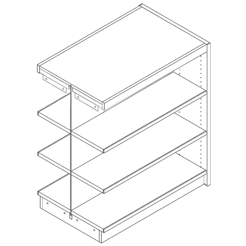 """Nautilus™ Wood & Steel Double-Face Mobile Library Shelving - 42""""H x 24""""D Adder"""