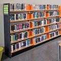 estey® Steel Designer Cantilever Library Shelving - Single-Face