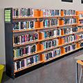 estey® Steel Designer Cantilever Library Shelving - Double-Face