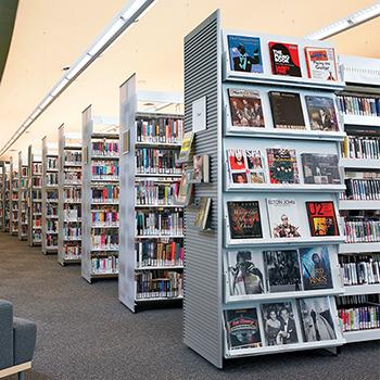 Estey® Steel Designer Cantilever Periodical Library Shelving   Double Face