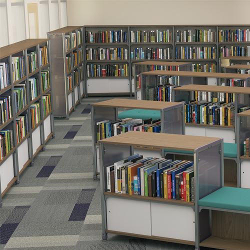 Paragon Intuitive® IC Wood & Steel Library Shelving - Single-Face