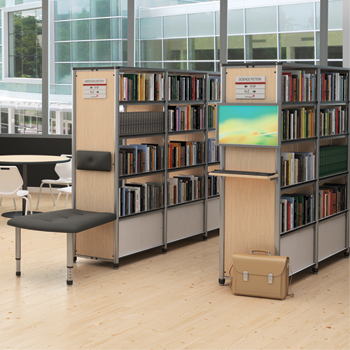 Paragon Intuitive® IC Wood & Steel Library Shelving - Double-Face