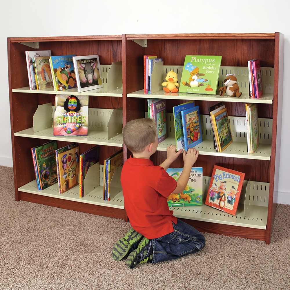 Atlantis™ Wood & Steel Picture Book Library Shelving - Single-Faced