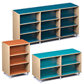 Russwood® Envision Wood Library Shelving - Double-Face