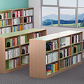 Russwood® Inspire Wood Library Shelving