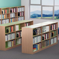 Russwood® Inspire Wood Library Shelving - Double-Face