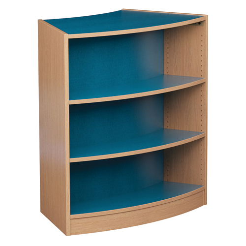 Russwood® Inspire Wood Radius Library Shelving - Double-Face