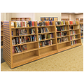 Wood Library Shelving