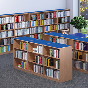 Nautilus™ Wood Library Shelving