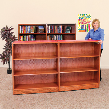 Nautilus™ Wood Library Shelving - Mobile Double-Faced