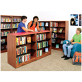 Nautilus™ Wood & Steel Library Shelving - Double-Face