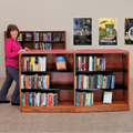 Nautilus™ Wood & Steel Library Shelving - Mobile Double-Faced