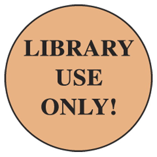 Information Dot Labels - Library Use Only!, 250/Roll