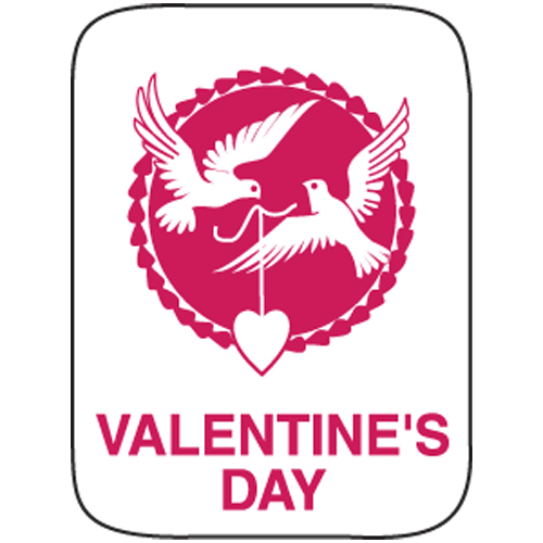 Classification Labels - Valentine's Day, 250/Roll