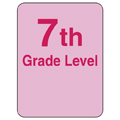 Reading Level Labels - 7th Level, 250/Roll