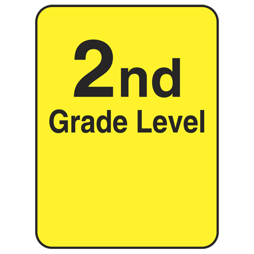 Reading Level Labels - 2nd Level, 250/Roll