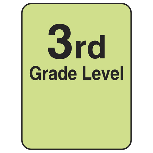 Reading Level Labels - 3rd Level, 250/Roll