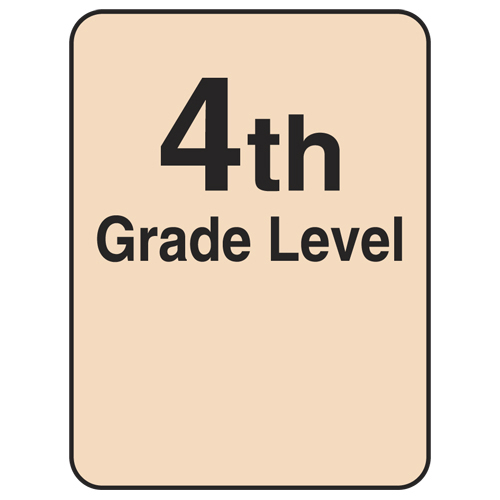 Reading Level Labels - 4th Level, 250/Roll