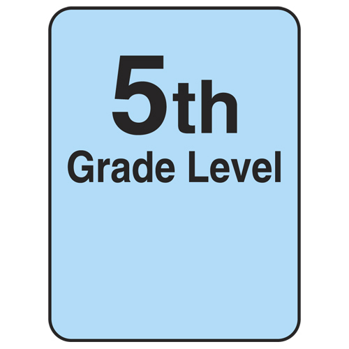 Reading Level Labels - 5th Level, 250/Roll