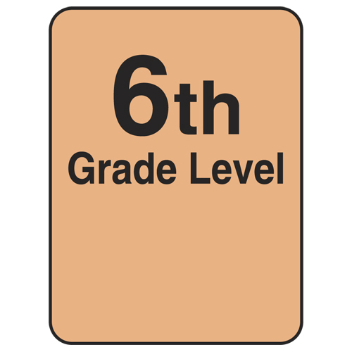 Reading Level Labels - 6th Level, 250/Roll