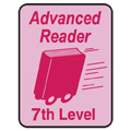 Advanced Reader Labels - 7th Level, 250/Roll