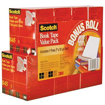 Scotch® 845 Book Tape- 8 Roll Value Pack