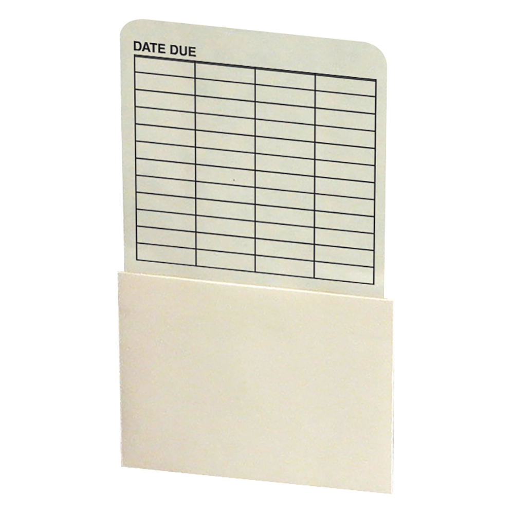 Self-Adhesive Book Pockets - Book Processing, Date Grid
