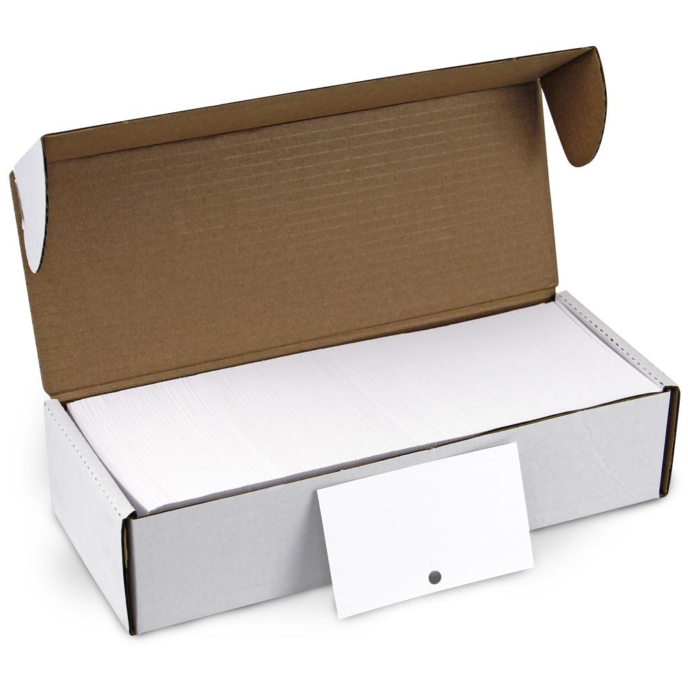 Economy Blank Catalog Cards - Medium Weight, 1000/Box