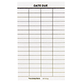 Date Due Slips - 4-Column, Plain, 5