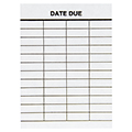Date Due Slips - 4-Column, Plain, 3-3/4