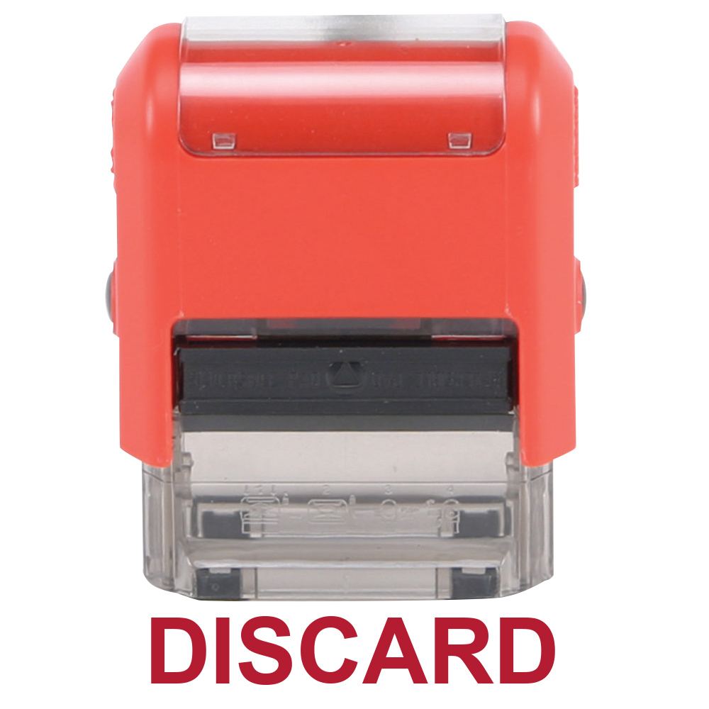 Self-Inking Stock Stamp - Discard, Red Case