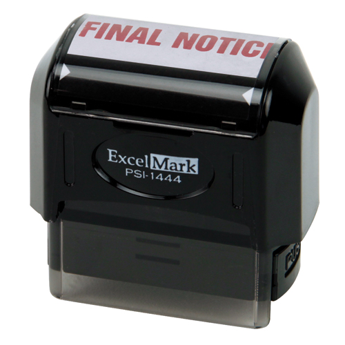 Pre-Inked Stock Stamp - Final Notice