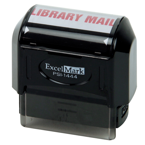 Pre-Inked Stock Stamp - Library Mail