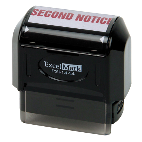 Pre-Inked Stock Stamp - Second Notice
