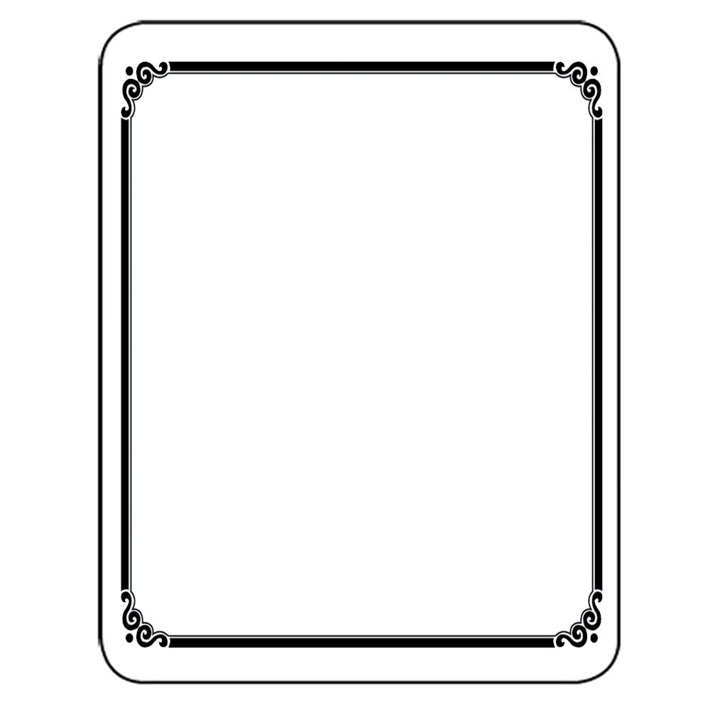 Laser & Inkjet Bookplates - Frame, 150/Pkg