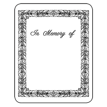 Bookplates laser inkjet bookplates in memory of 150 pkg for Bookplate templates for word