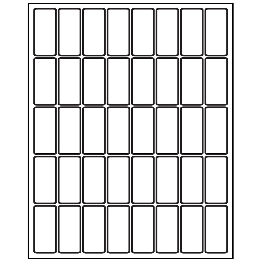 """Laser/Inkjet Spine Labels - 2""""H x 9/10""""W"""