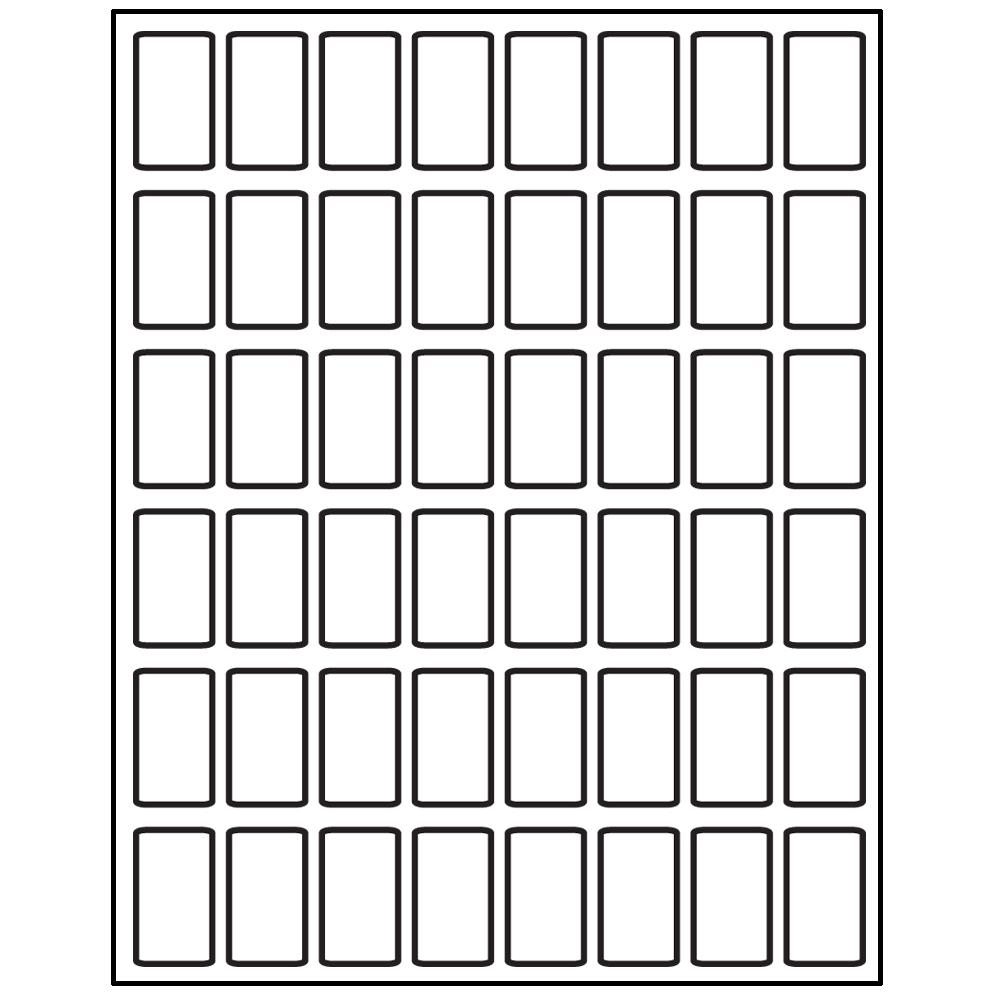 """Laser/Inkjet Spine Labels - 1-1/2""""H x 7/8""""W"""